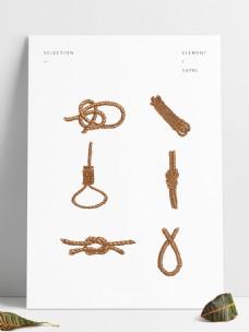 可商用手绘一团麻绳