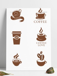 咖啡装饰标签免抠元素