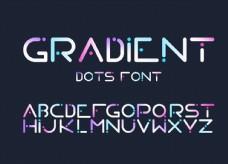 24個英文字母字體設計