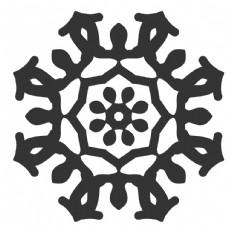 黑白簡約花紋圖案設計