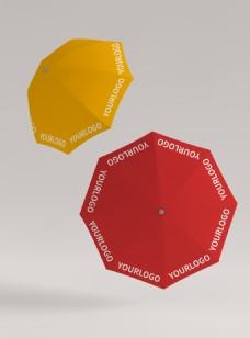 原创模型伞样机贴图