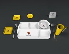 原创3D建模拼盘餐饮logo样机
