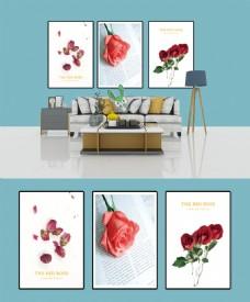 清新自然玫瑰装饰画