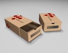 原创建模牛皮纸鞋盒logo样机