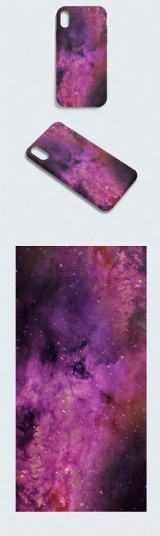 原创暗色系枯竭的星空大地紫色幽冥手机壳