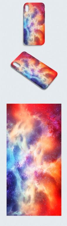 原创极光炫彩大气云端特效唯美手机壳
