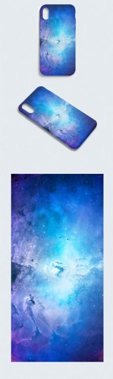 原创炫美光效蓝色大气唯美手机壳