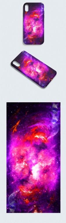 原创炫彩大气星空迷幻空间虫洞绚丽手机壳