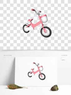 C4D粉色儿童平衡车