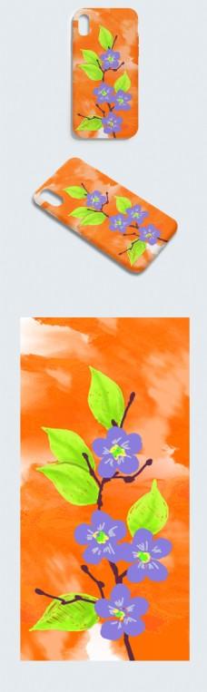原创手绘撞色手机壳