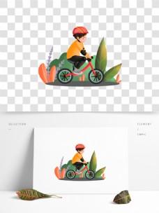 可商用骑儿童平衡车的小孩