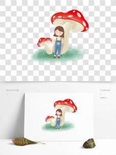 幻彩小女孩手绘卡通女孩梦幻女孩