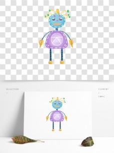 机器人手绘机器人卡通机器人创意机器人