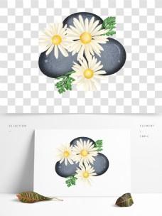 可商用菊花和石子