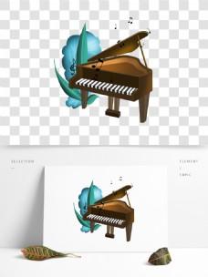 可商用钢琴与音符结合