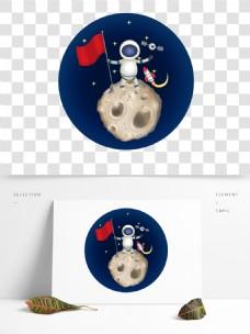 可商用宇航员在月亮上