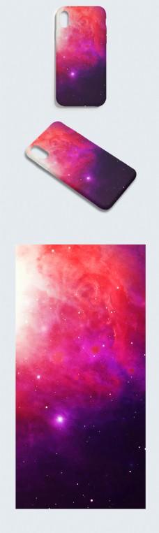 原创手绘唯美紫色优雅星空炫彩唯美手机壳