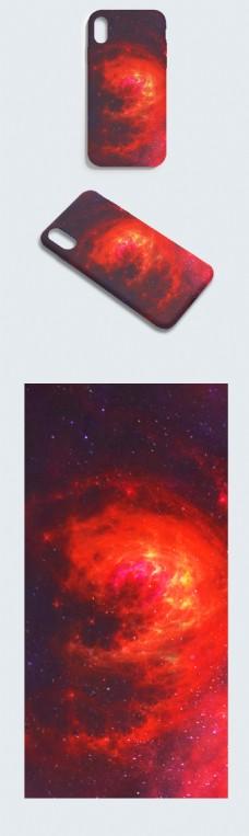 原创手绘红色大气层压力炫酷科技未来手机壳