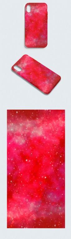原创大气深秋红小碎斑点手机壳
