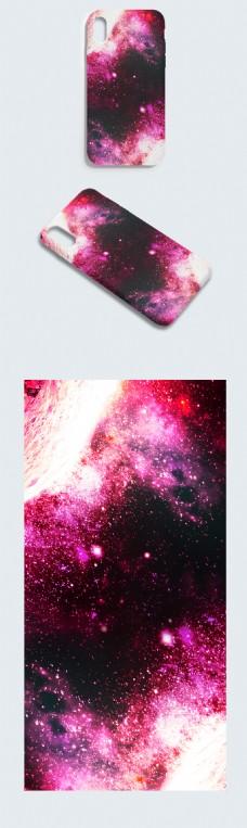 原创手绘唯美大气宇宙空间尘埃粒子手机壳