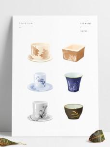 手绘中式创意茶杯瓷杯