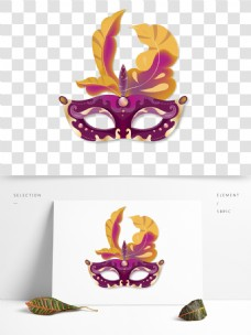 万圣节紫色神秘面具