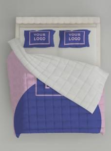 原创场景整套床上用品样机(空调被)