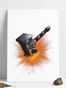 铁匠铺锻造铁锤元素