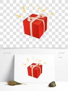 发光的红色礼品盒