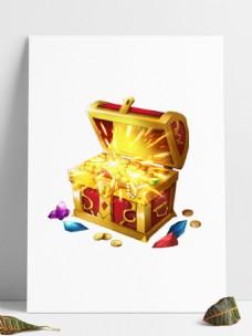 金银财宝发光大宝箱
