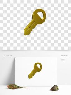 C4D金色钥匙3D模型