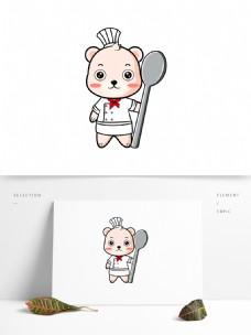 厨师熊卡通形象设计