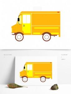 扁平化汽车小型货车元素