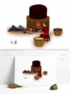 卡通手绘澄泥砚制作流程