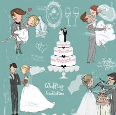 婚礼主题人物插画