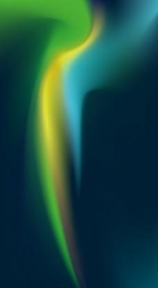 蓝色绿色高清极光背景