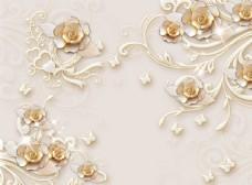 欧式花纹背景墙珠宝背景墙