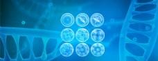 医院医疗分子结构基因蓝色背景海