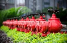 红色消防栓阀门