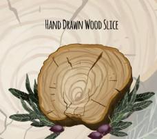 手工绘制的叶木片