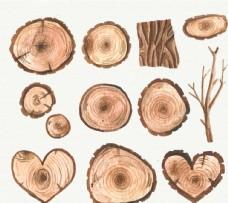 手绘木元素