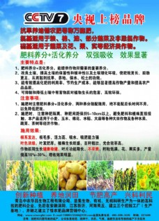 蓝色化肥农业彩页宣传单设计