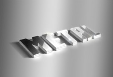 金屬字 立體 銀色 金色 字體