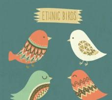 漂亮的民族鳥