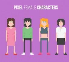 像素化的女性角色