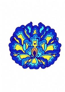蒙古族图案 莲花纹