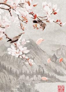 中国风客厅无框画2