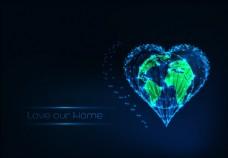 保护地球背景
