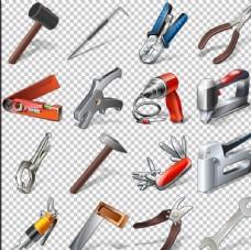 建筑工程常用工具PNG免扣素材