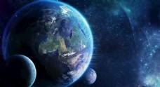 星空夜空地球背景素材